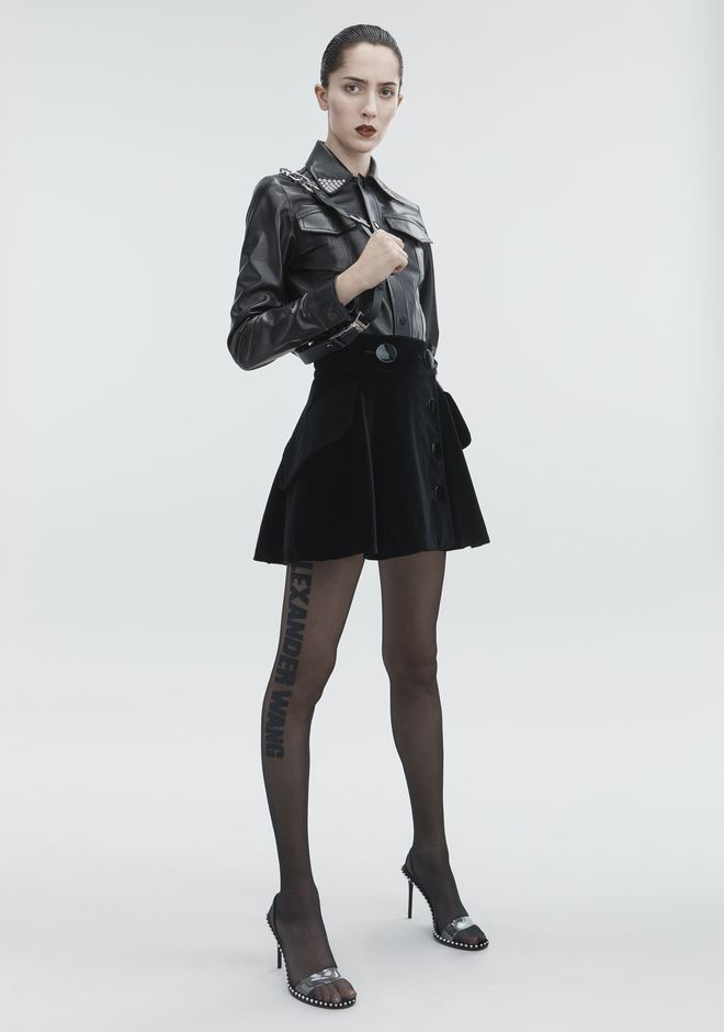 ALEXANDER WANG new-arrivals-ready-to-wear-woman VELVET MINI SKIRT
