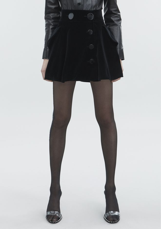 ALEXANDER WANG VELVET MINI SKIRT SKIRT Adult 12_n_a