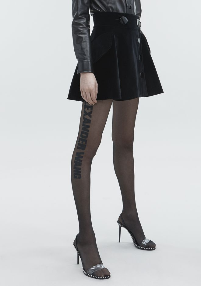 ALEXANDER WANG VELVET MINI SKIRT 스커트  12_n_e