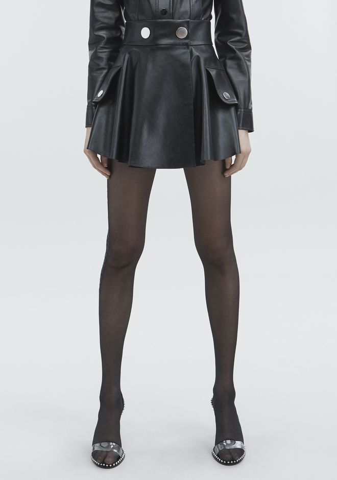 ALEXANDER WANG LEATHER MINI SKIRT GONNA Adult 12_n_a