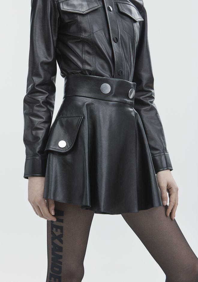 ALEXANDER WANG LEATHER MINI SKIRT SKIRT Adult 12_n_d