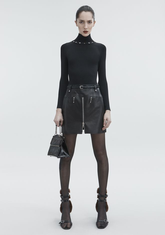 ALEXANDER WANG new-arrivals-ready-to-wear-woman MOTO SKIRT
