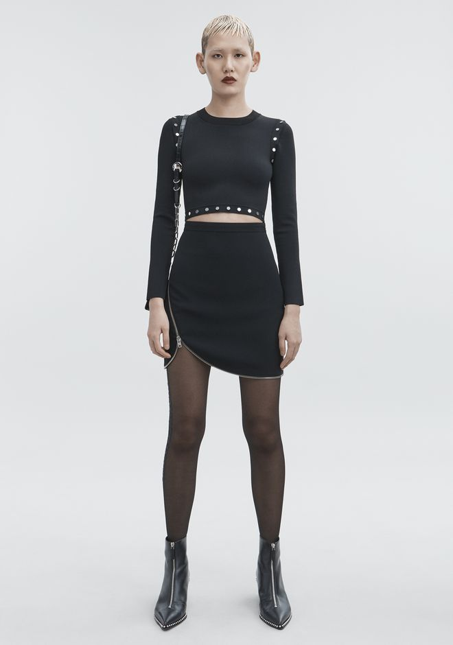 ALEXANDER WANG slrtwbtm ZIPPER MINI SKIRT
