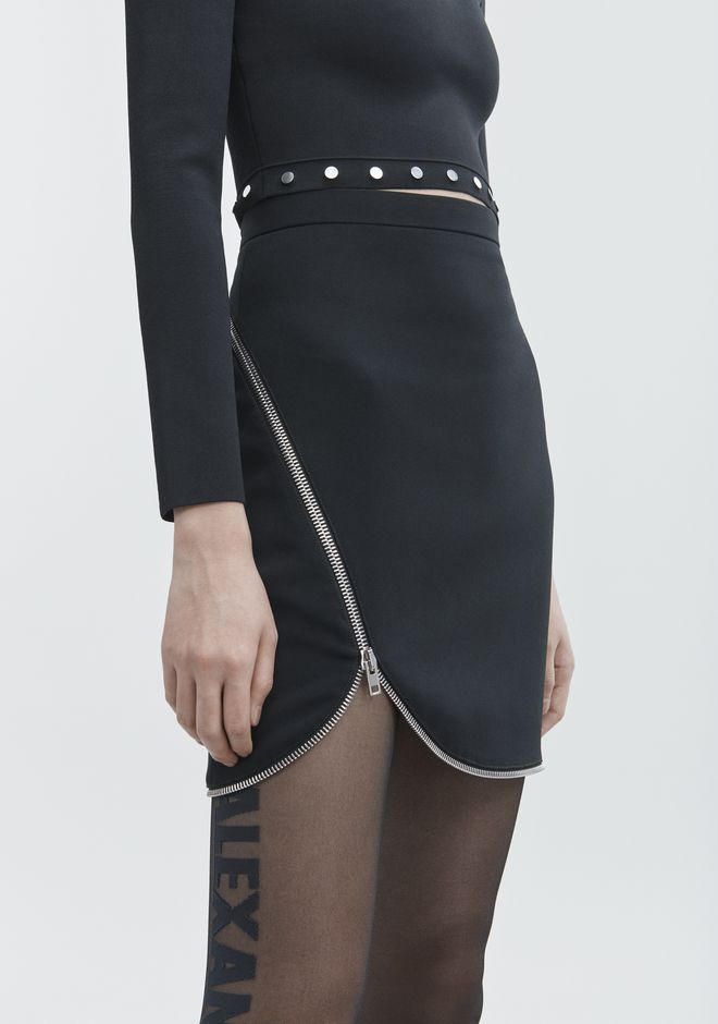 ALEXANDER WANG ZIPPER MINI SKIRT SKIRT Adult 12_n_d