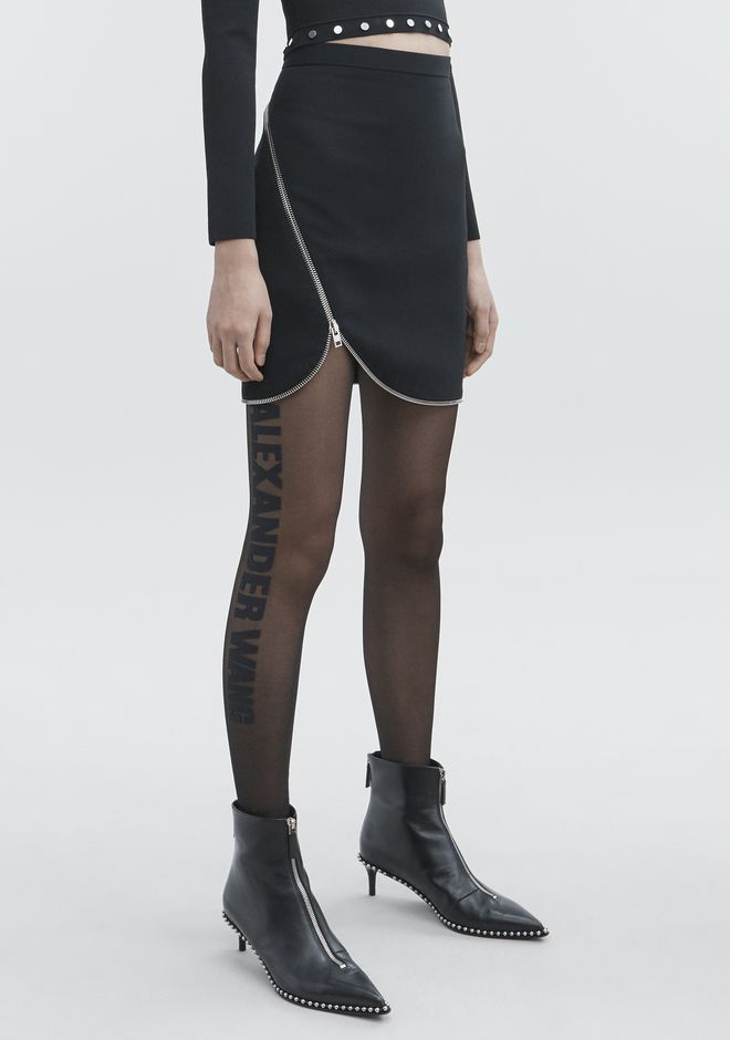 ALEXANDER WANG ZIPPER MINI SKIRT SKIRT Adult 12_n_e