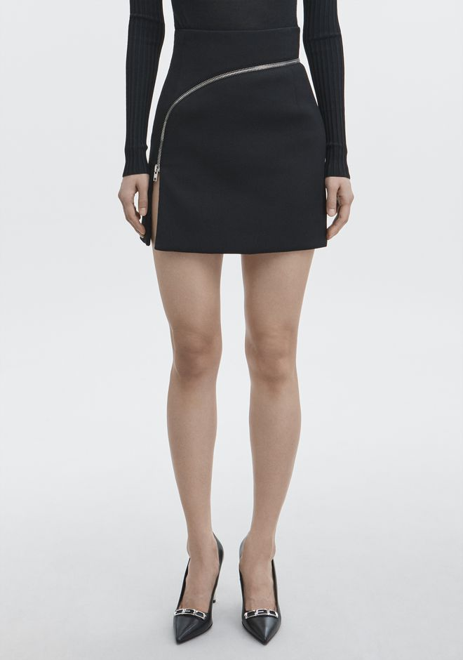 ALEXANDER WANG ZIPPER MINISKIRT SKIRT Adult 12_n_a