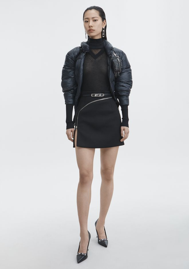 ALEXANDER WANG ZIPPER MINISKIRT SKIRT Adult 12_n_f
