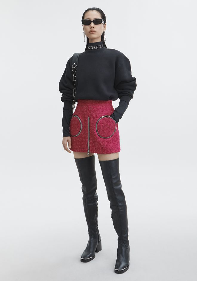 ALEXANDER WANG new-arrivals-ready-to-wear-woman CURVE ZIP SKORT