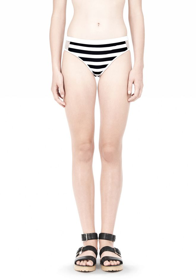 T by ALEXANDER WANG STRIPE MESH COMBO SWIM BOTTOM Swimwear Adult 12_n_d