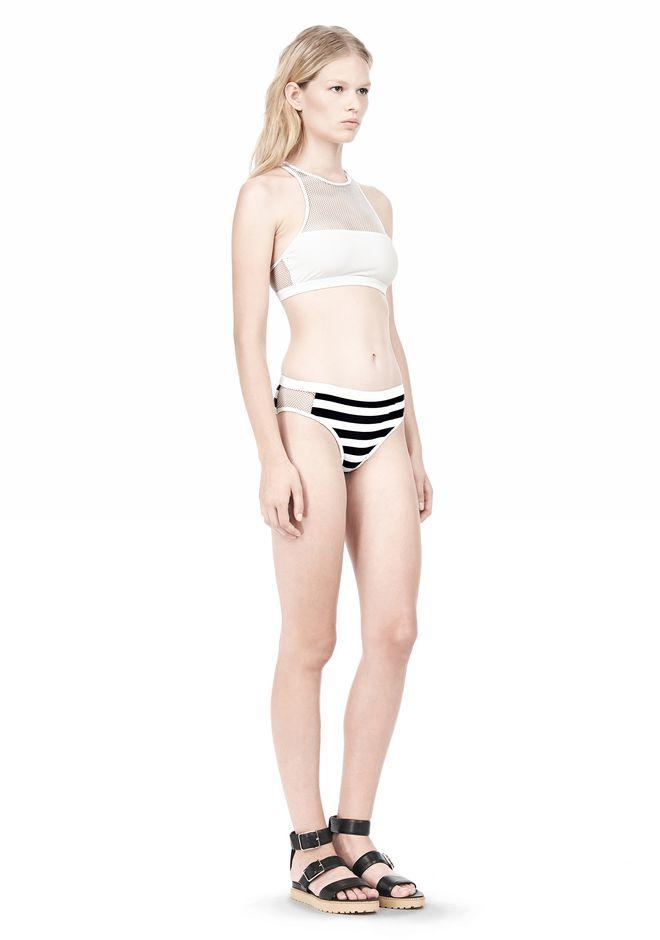 T by ALEXANDER WANG STRIPE MESH COMBO SWIM BOTTOM Swimwear Adult 12_n_e
