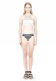 T by ALEXANDER WANG STRIPE MESH COMBO SWIM BOTTOM Swimwear Adult 8_n_f