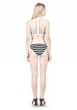 T by ALEXANDER WANG STRIPE MESH COMBO SWIM BOTTOM Swimwear Adult 8_n_r