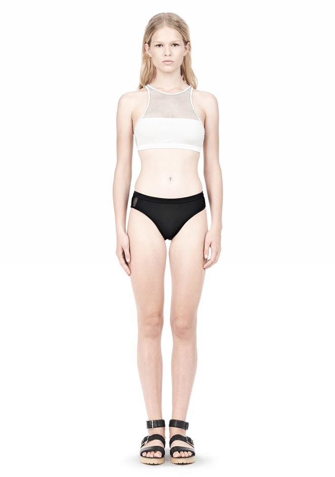 T by ALEXANDER WANG MESH COMBO SWIM BOTTOMS Swimwear Adult 12_n_f