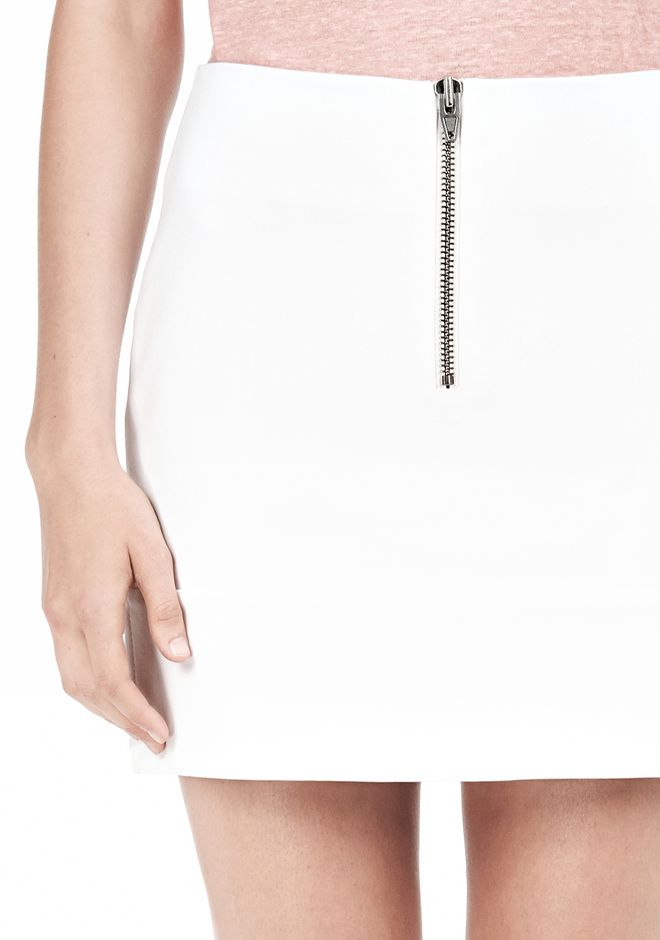 T by ALEXANDER WANG DOUBLE FACE STRETCH COTTON MINI SKIRT Skirt/DEL Adult 12_n_a