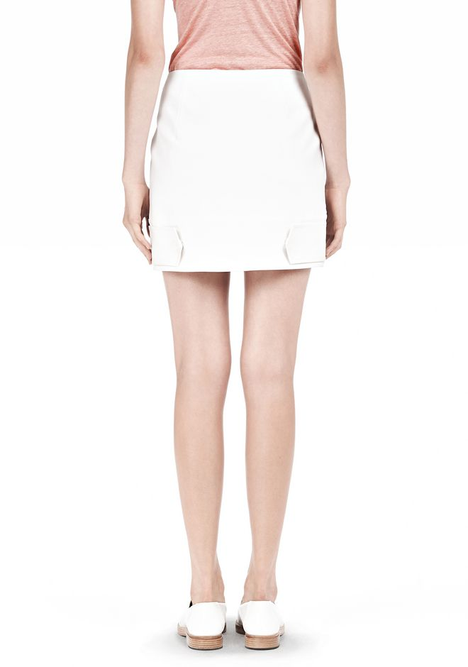 T by ALEXANDER WANG DOUBLE FACE STRETCH COTTON MINI SKIRT Skirt/DEL Adult 12_n_d
