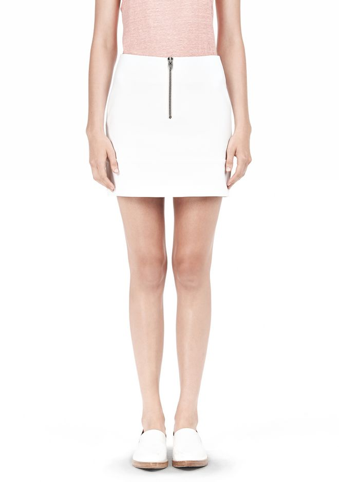 T by ALEXANDER WANG DOUBLE FACE STRETCH COTTON MINI SKIRT Skirt/DEL Adult 12_n_e