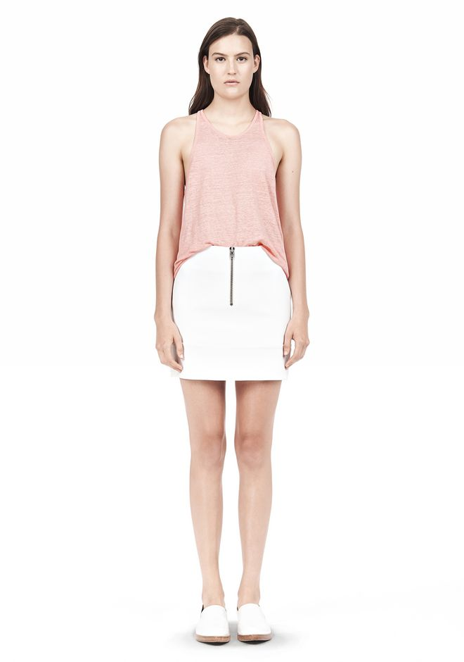 T by ALEXANDER WANG DOUBLE FACE STRETCH COTTON MINI SKIRT Skirt/DEL Adult 12_n_f