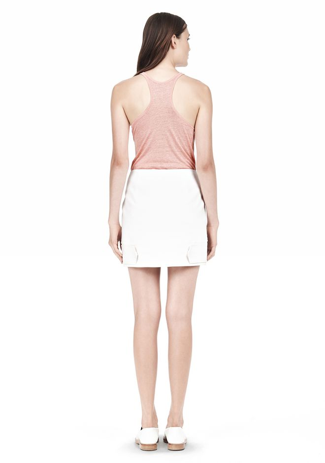 T by ALEXANDER WANG DOUBLE FACE STRETCH COTTON MINI SKIRT Skirt/DEL Adult 12_n_r