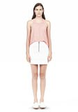 T by ALEXANDER WANG DOUBLE FACE STRETCH COTTON MINI SKIRT Skirt/DEL Adult 8_n_f