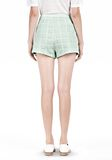 T by ALEXANDER WANG GRID JACQUARD BONDED NEOPRENE CROPPED SHORTS SHORTS Adult 8_n_d