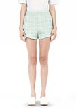 T by ALEXANDER WANG GRID JACQUARD BONDED NEOPRENE CROPPED SHORTS SHORTS Adult 8_n_e