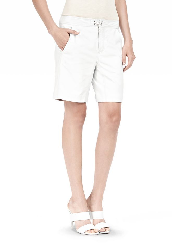 T by ALEXANDER WANG LIGHTWEIGHT LEATHER BOARDSHORTS SHORTS Adult 12_n_e