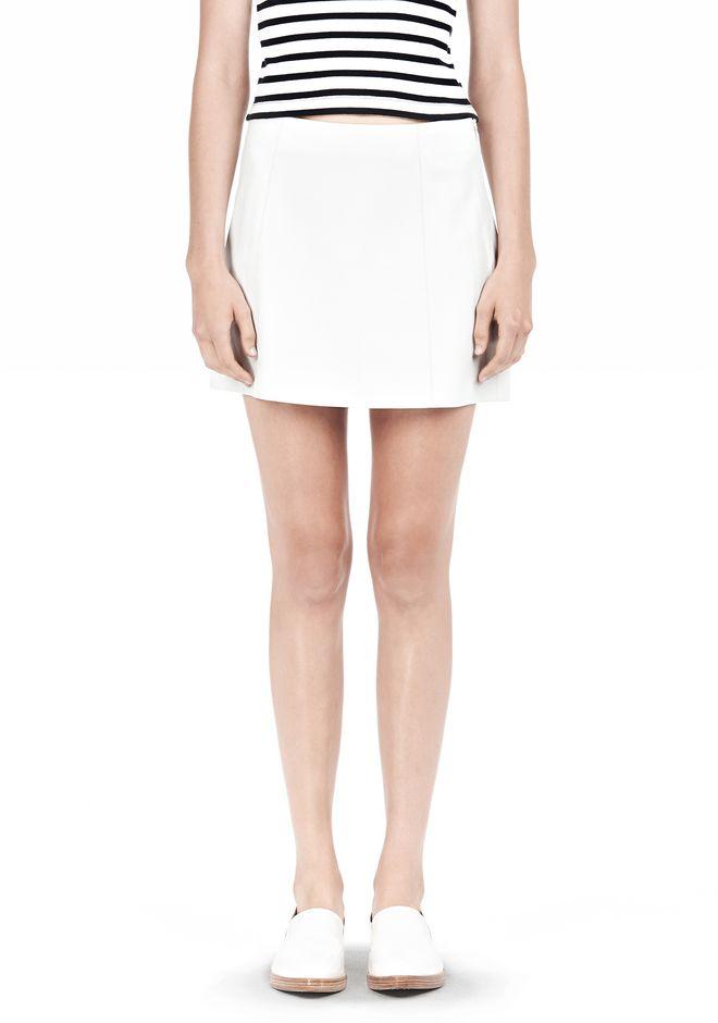 T by ALEXANDER WANG LIGHTWEIGHT A-LINE LEATHER SKIRT Skirt/DEL Adult 12_n_e