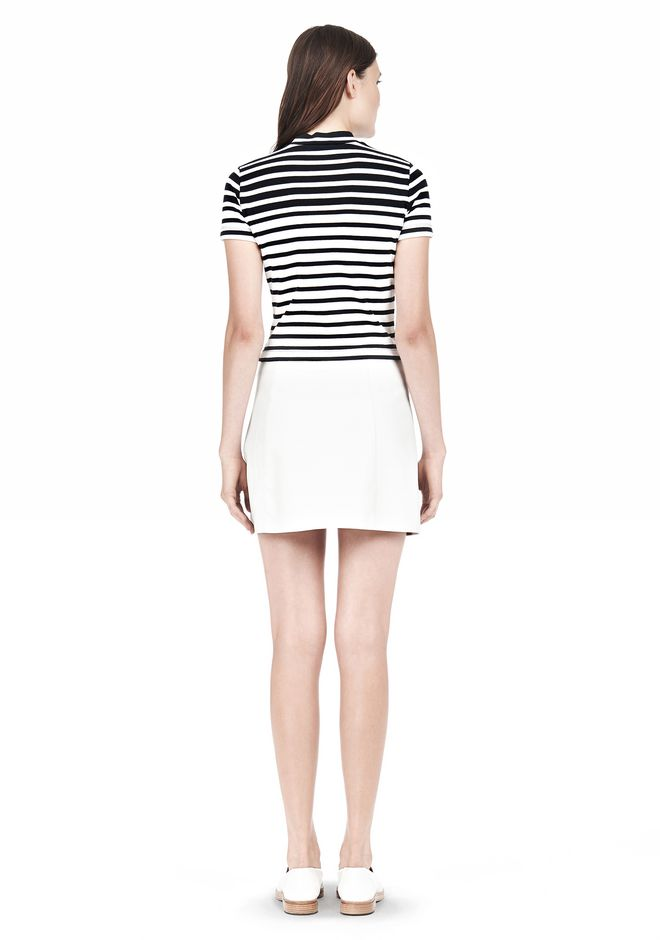 T by ALEXANDER WANG LIGHTWEIGHT A-LINE LEATHER SKIRT Skirt/DEL Adult 12_n_r
