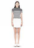 T by ALEXANDER WANG LIGHTWEIGHT A-LINE LEATHER SKIRT Skirt/DEL Adult 8_n_f