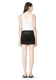 T by ALEXANDER WANG COTTON CANVAS TWILL JEAN SKIRT WITH LEATHER YOKE SKIRT Adult 8_n_r