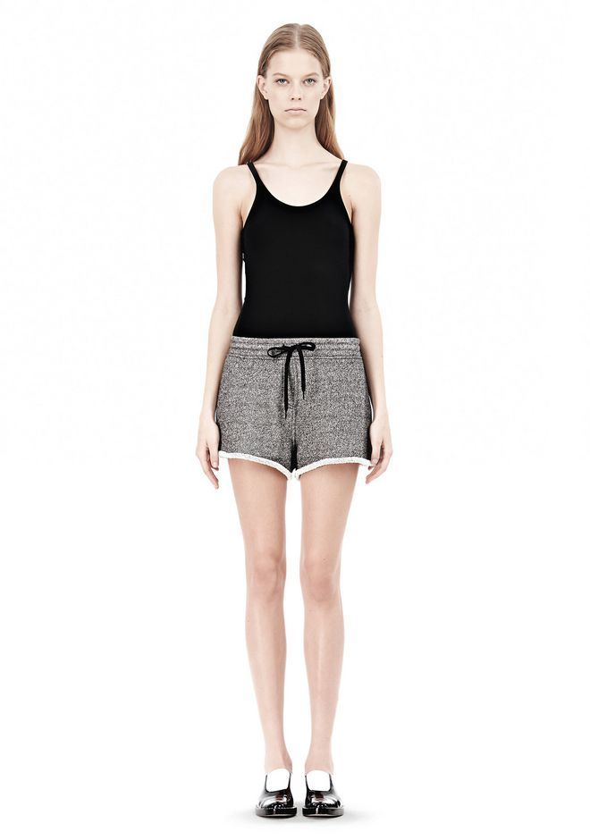 T by ALEXANDER WANG  FRENCH TERRY SHORTS WITH DRAWSTRING SHORTS Adult 12_n_f