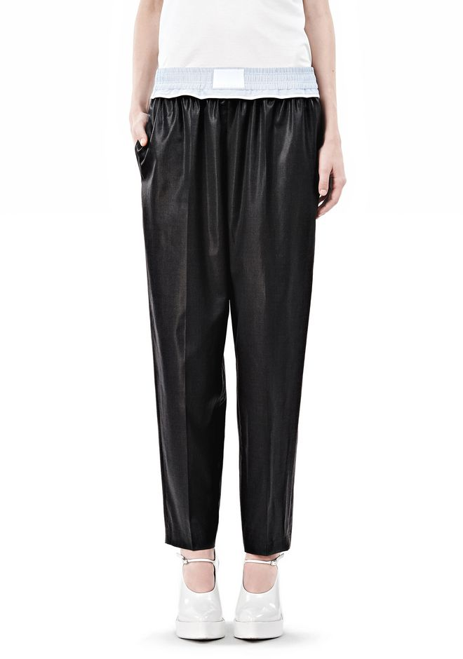 ALEXANDER WANG TRACK PANT WITH BOXER SHORT WAISTBAND PANTS Adult 12_n_d