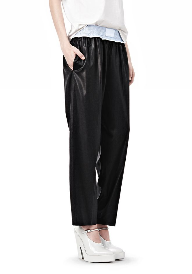 ALEXANDER WANG TRACK PANT WITH BOXER SHORT WAISTBAND PANTS Adult 12_n_e