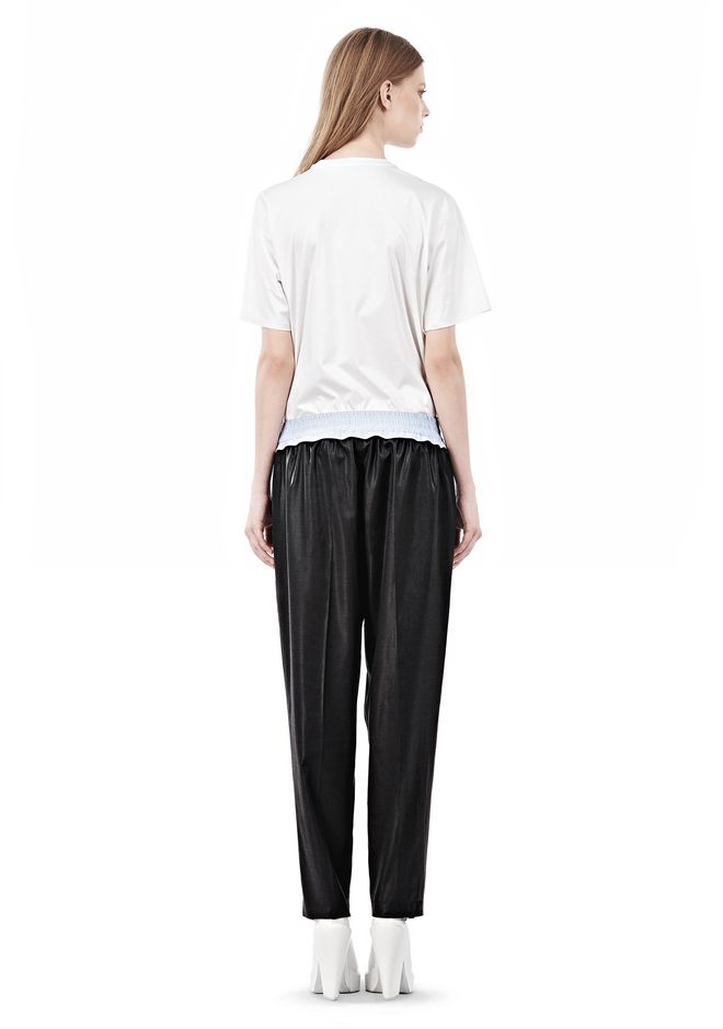 ALEXANDER WANG TRACK PANT WITH BOXER SHORT WAISTBAND PANTS Adult 12_n_r