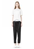 ALEXANDER WANG TRACK PANT WITH BOXER SHORT WAISTBAND PANTS Adult 8_n_f