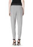 T by ALEXANDER WANG COTTON SWEATPANTS WITH LEATHER WAISTBAND PANTS Adult 8_n_a