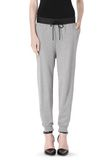 T by ALEXANDER WANG COTTON SWEATPANTS WITH LEATHER WAISTBAND PANTS Adult 8_n_d