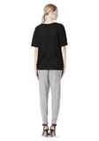 T by ALEXANDER WANG COTTON SWEATPANTS WITH LEATHER WAISTBAND PANTS Adult 8_n_r