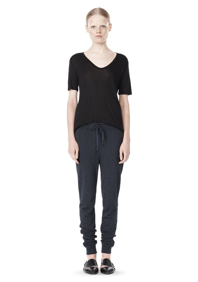 T by ALEXANDER WANG LIGHTWEIGHT FRENCH TERRY SWEATPANTS PANTS Adult 12_n_f
