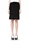 ALEXANDER WANG PENCIL SKIRT WITH LOGO EYELET EMBROIDERY SKIRT Adult 8_n_d