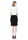ALEXANDER WANG PENCIL SKIRT WITH LOGO EYELET EMBROIDERY SKIRT Adult 8_n_r