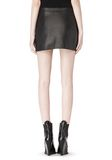 ALEXANDER WANG RAW EDGE LEATHER MINI SKIRT SKIRT Adult 8_n_a