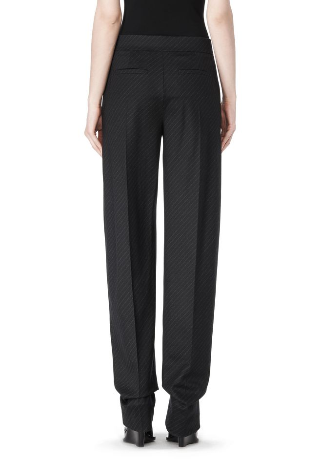 ALEXANDER WANG LOW WAISTED PINSTRIPE PANT PANTS Adult 12_n_a