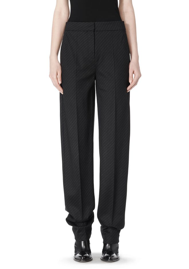 ALEXANDER WANG LOW WAISTED PINSTRIPE PANT PANTS Adult 12_n_d
