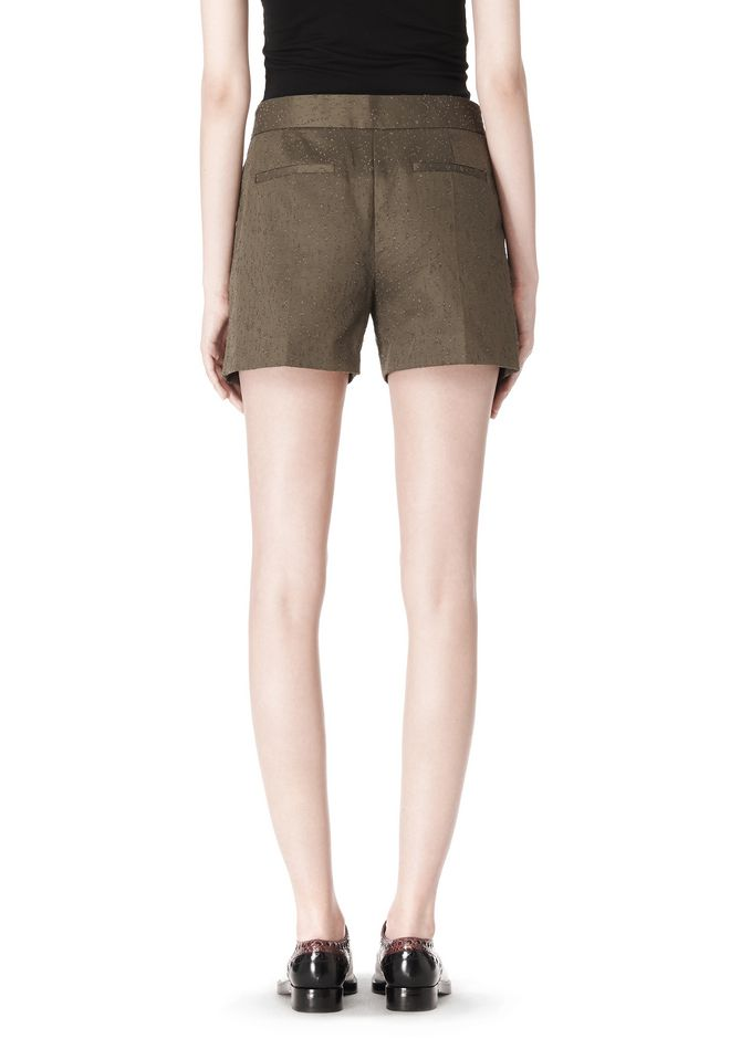 ALEXANDER WANG LOW WAISTED SINGLE PLEAT SHORT SHORTS Adult 12_n_a