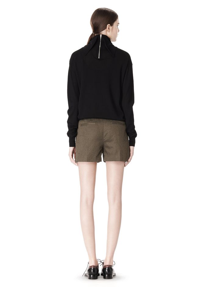 ALEXANDER WANG LOW WAISTED SINGLE PLEAT SHORT SHORTS Adult 12_n_r