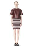T by ALEXANDER WANG RIB KNIT PENCIL SKIRT SKIRT Adult 8_n_f