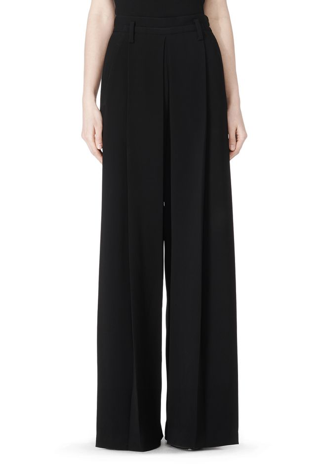 ALEXANDER WANG HIGH WAISTED PLEAT FRONT PANT PANTS Adult 12_n_d