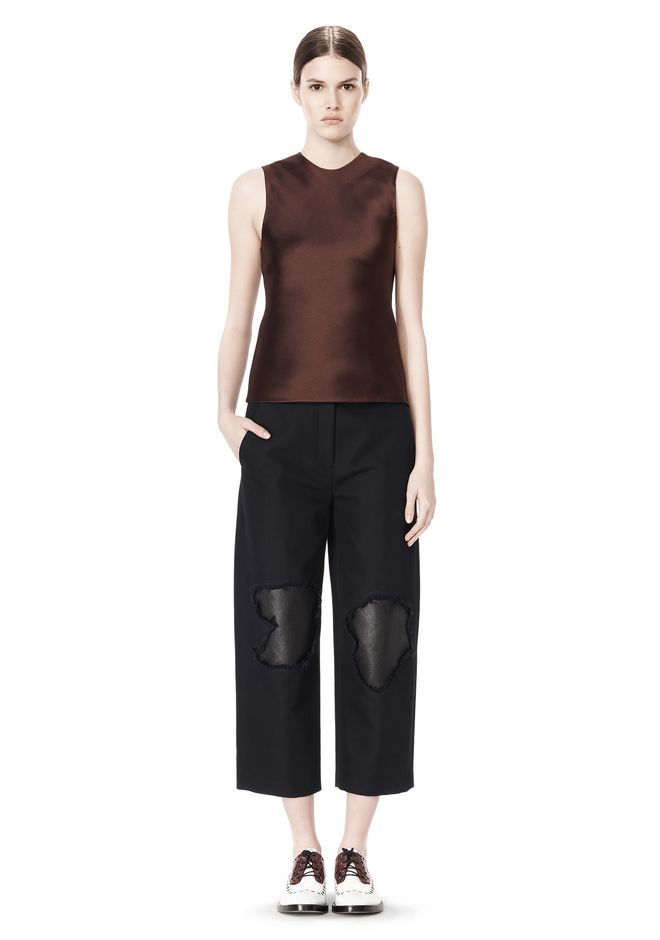ALEXANDER WANG CROPPED PANT WITH DISTRESSED DETAIL PANTS Adult 12_n_f