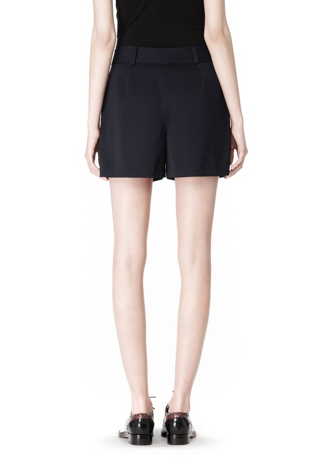 ALEXANDER WANG PLEATED FRONT SKORT WITH STUD DETAIL SKIRT Adult 12_n_a